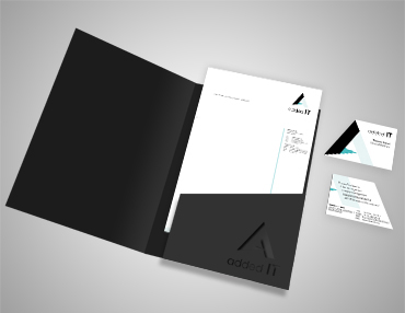 Corporate Design Visitenkarte Briefpapier IT Firma Ingolstadt